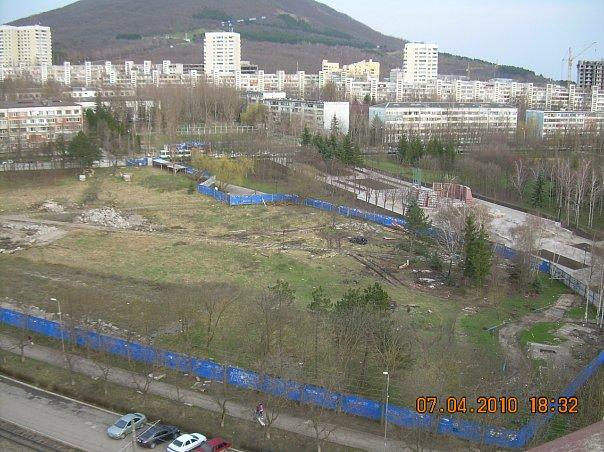 Захват территории Комсомольского парка (Пятигорск, 2010)
